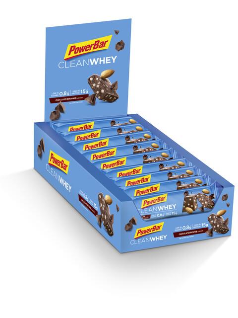 PowerBar Clean Whey Riegel Box Chocolate Brownie 18 x 45g